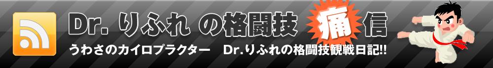 Dr.りふれの格闘技痛信 うわさのカイロプラクター Dr.リフレの格闘技観戦日記!!